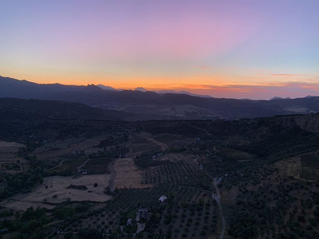 sunset in ronda spain
